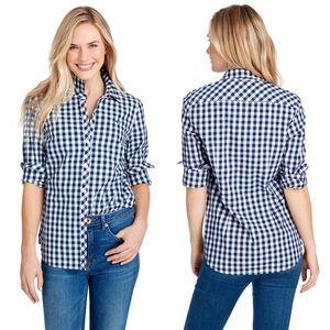 Vineyard Vines Blue Gingham Relaxed Classic Shirt